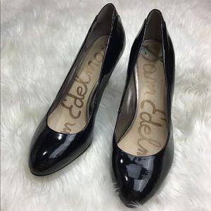 Sam Edelman Black Leather Pumps Size 8.5